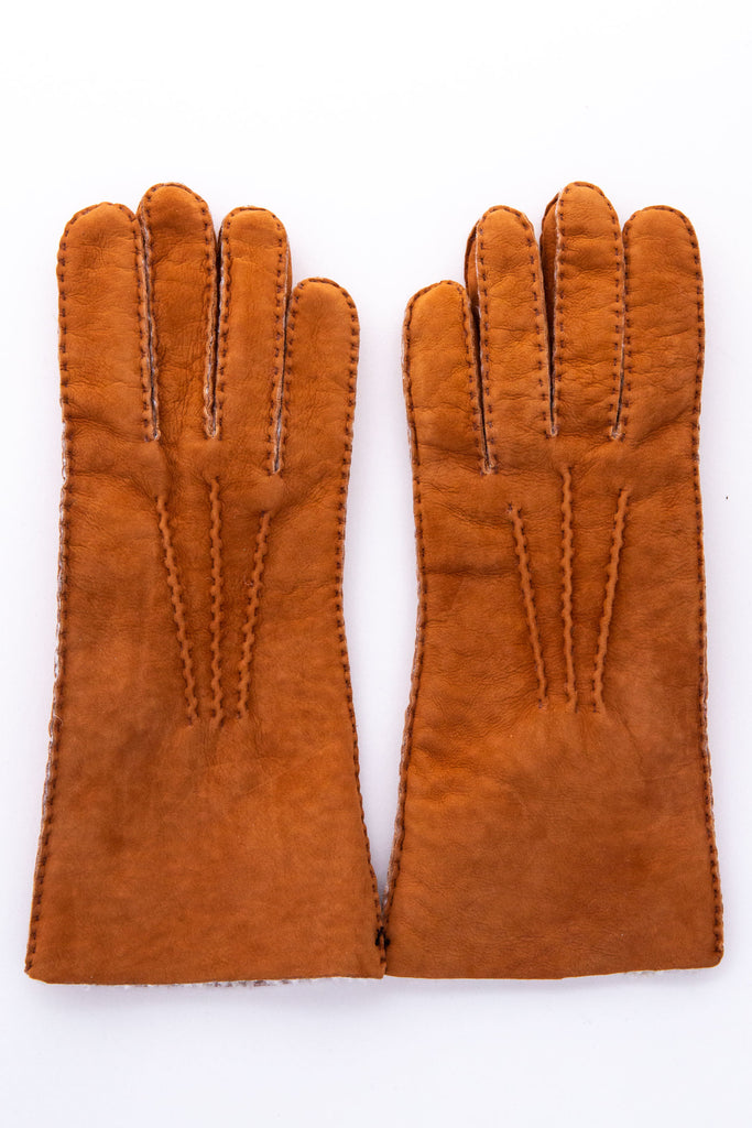 Maison Fabre Chestnut Gloves