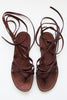 lost & found walnut gladiator sandal