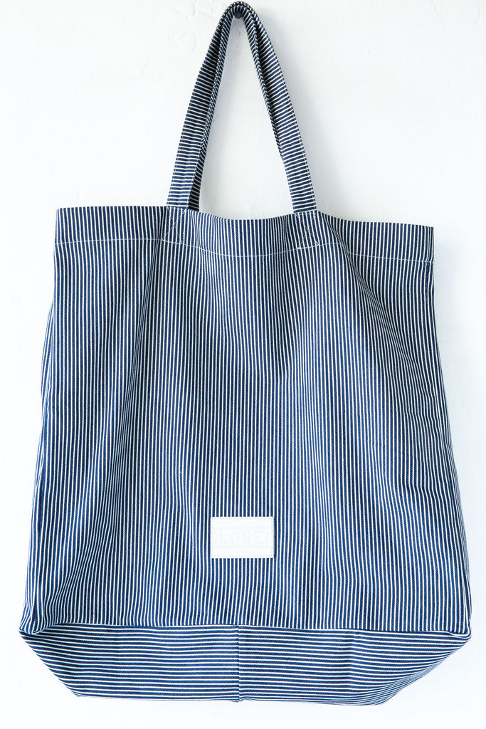 Closed Stripe Denim Tote