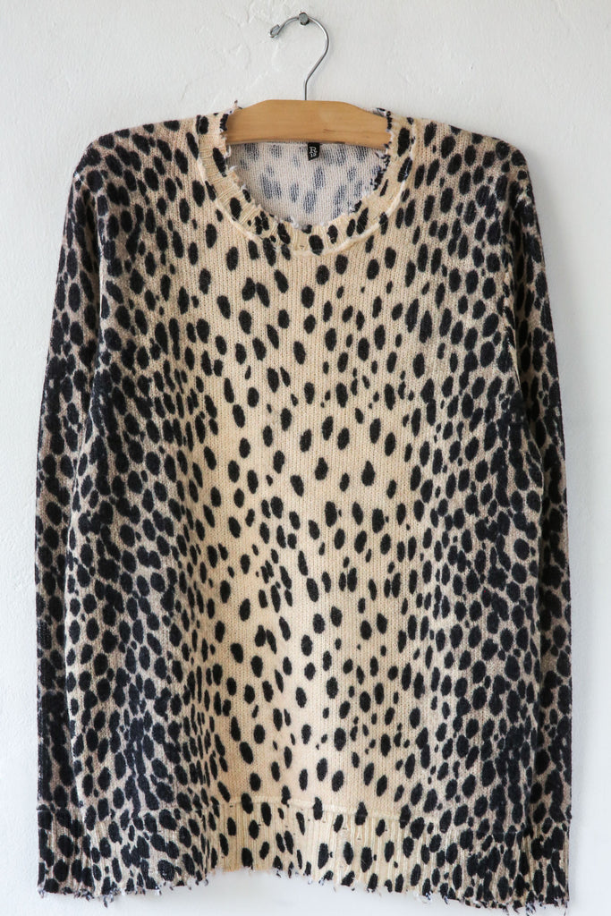R13 Cheetah Crewneck Sweater