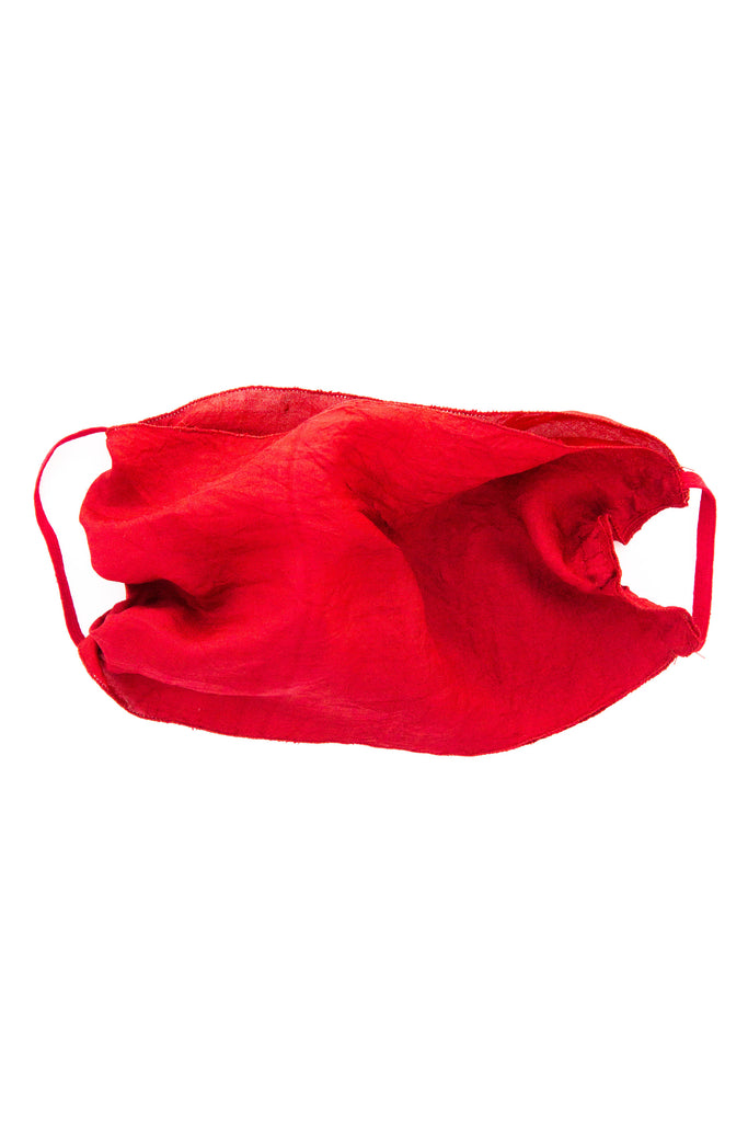 Claire Joseph Red Double Layer Silk Mask