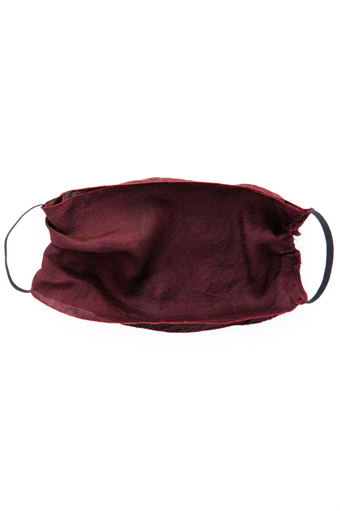 Claire Joseph Burgandy Double Layer Silk Mask
