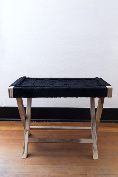 lost & found black folding table