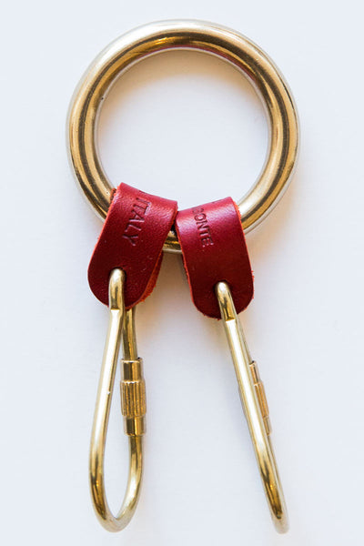 il bisonte red double key ring