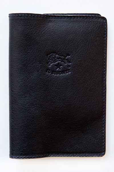 il bisonte navy 627 franklyn passport holder
