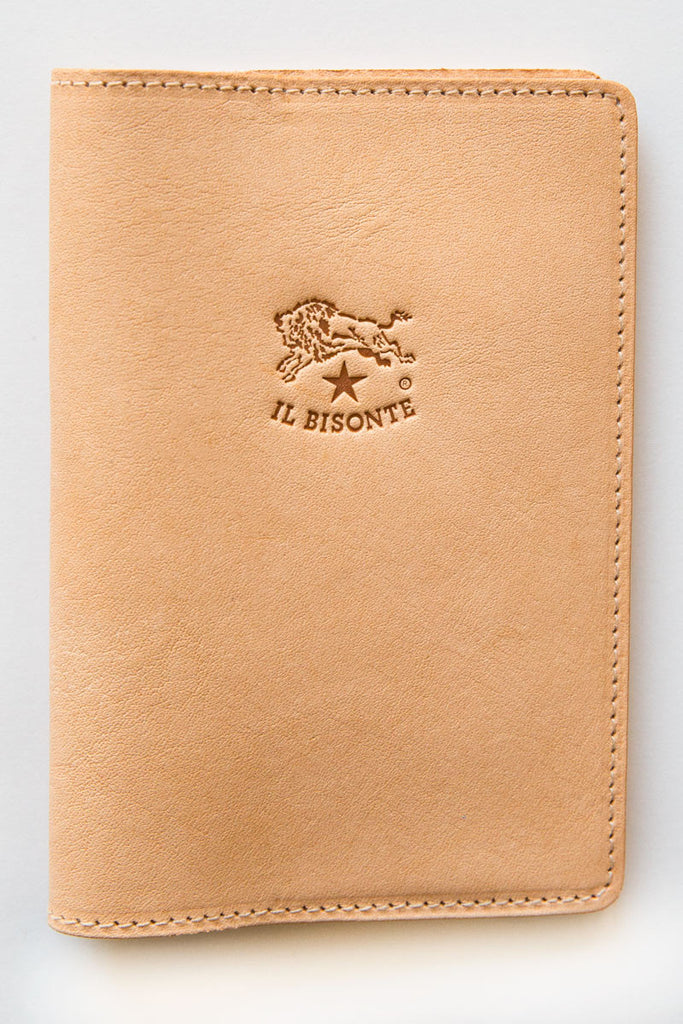 il bisonte natural franklyn passport holder