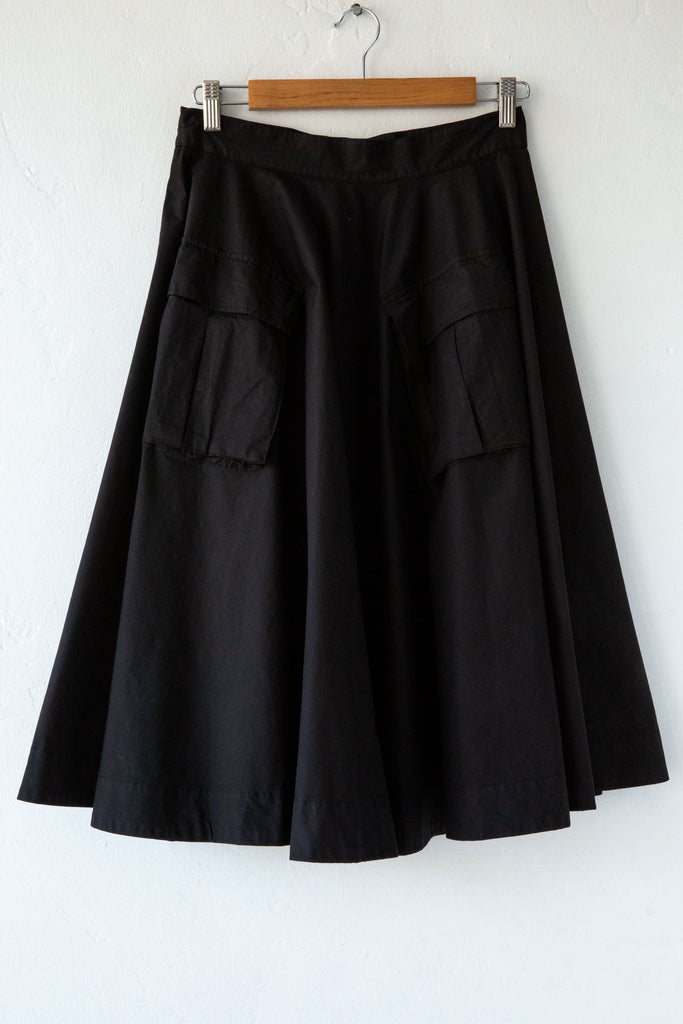 MYTHS Black Cargo Skirt