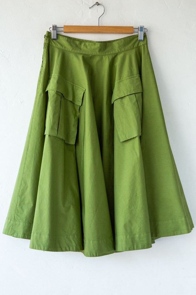 MYTHS Green Cargo Skirt