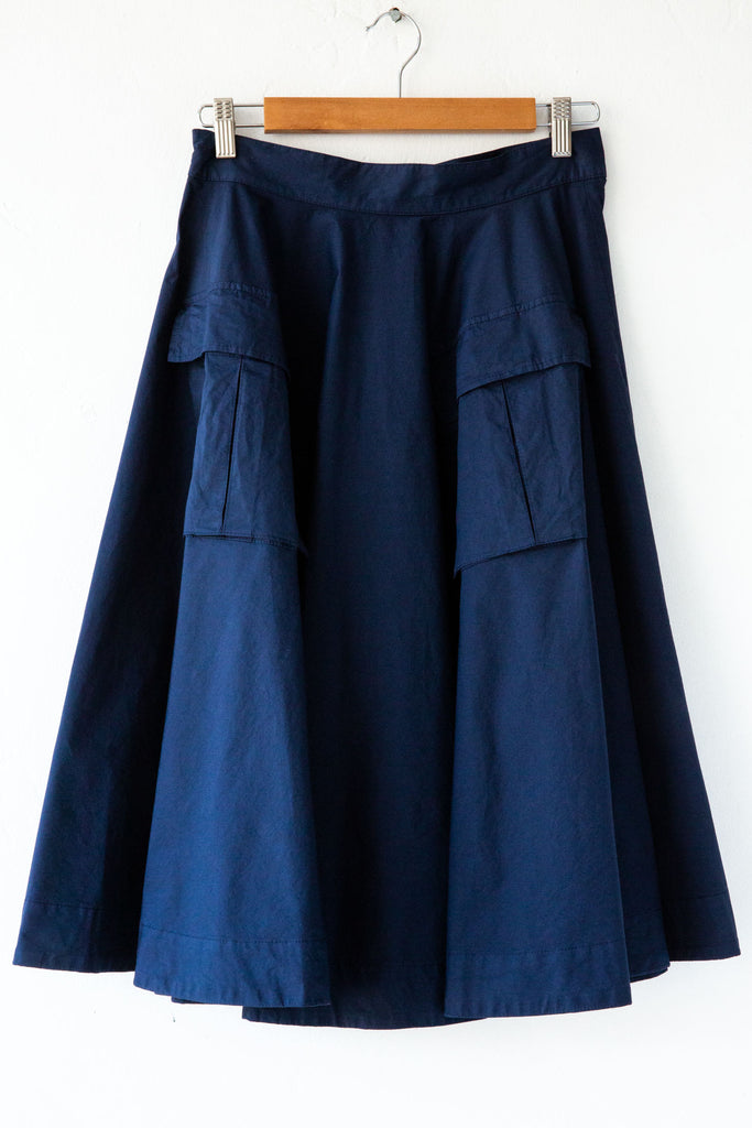 MYTHS Navy Cargo Skirt