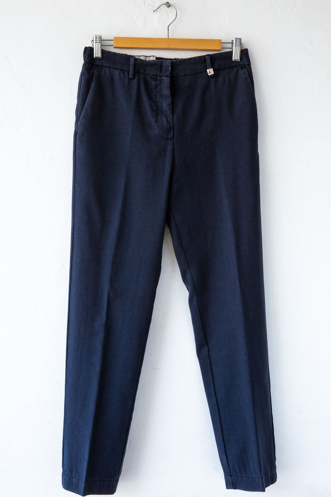 MYTHS Navy Cigarette Trouser