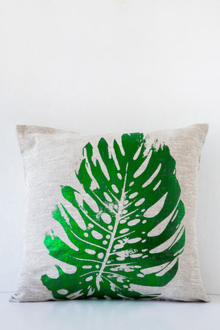 lucky fish green cactus pillow
