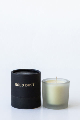 tatine dark, wild + deep  gold dust votive candle