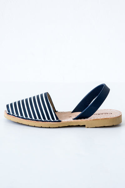 calaxini navy/white stripe sandal