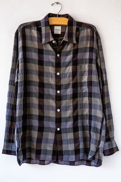 sage de cret 6989 grey check shirt
