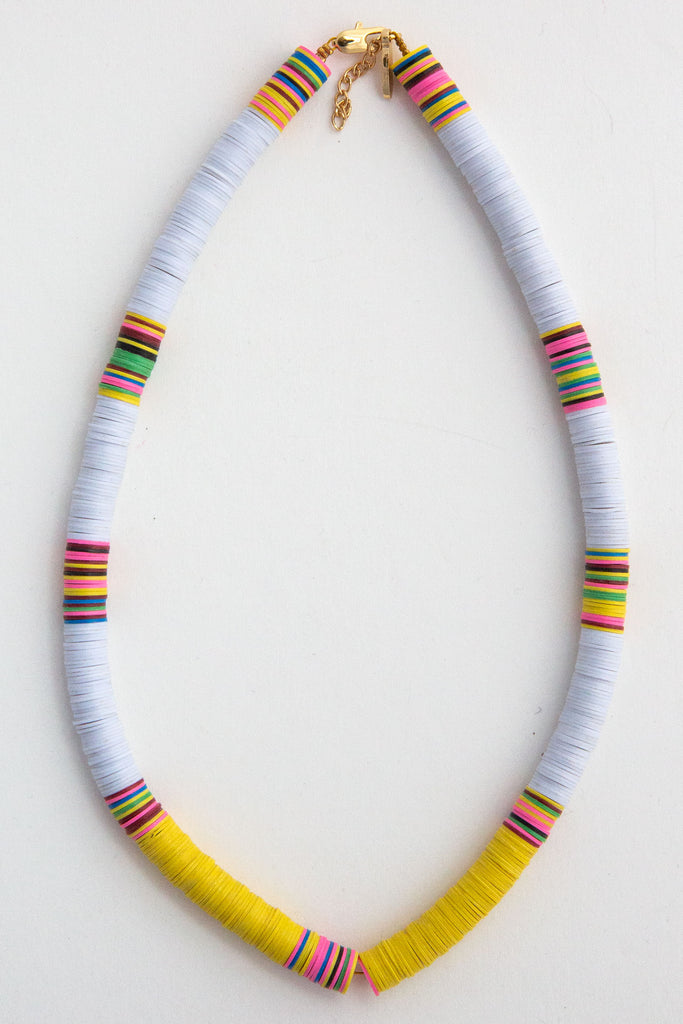 Heishi White/Yellow Necklace