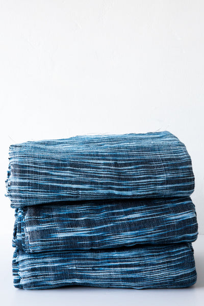 sammy indigo stripe tye dye 3 panel throw