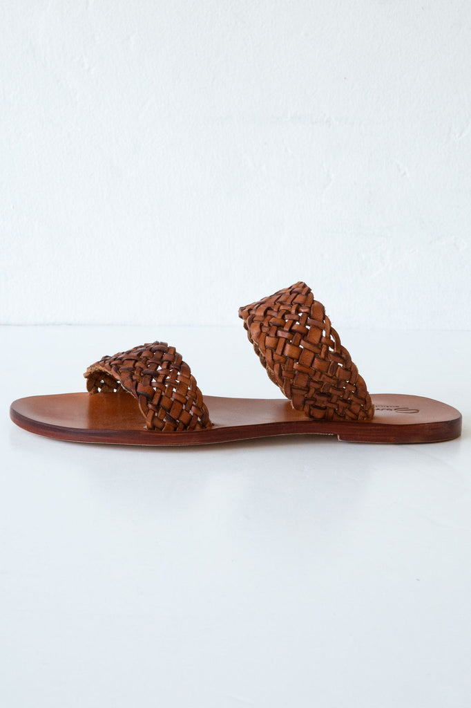 Dragon Diffusion tan double strap sandal