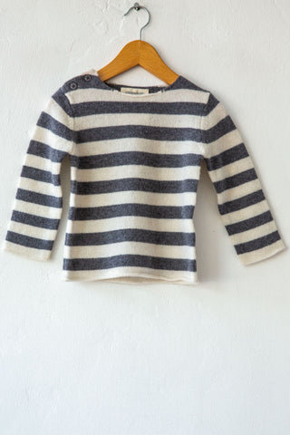 louis louise grey/white stripe bobby sweater