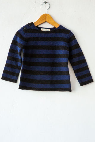 louis louise navy/black stripe bobby sweater