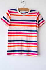 lost & found peony stripe small tee