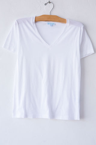 lost & found white vneck short sleeve tee