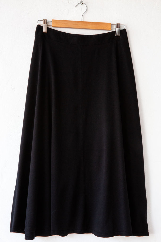 lost & found black gore skirt