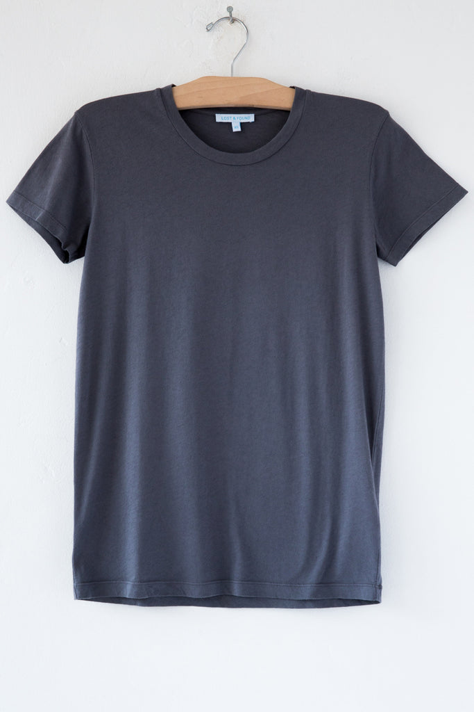 lost & found charcoal short sleeve tee