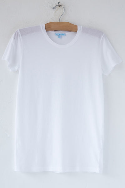 lost & found white short sleeve tee
