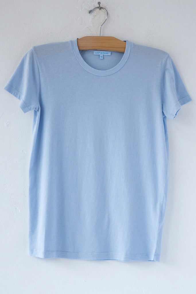 lost & found blue short sleeve tee