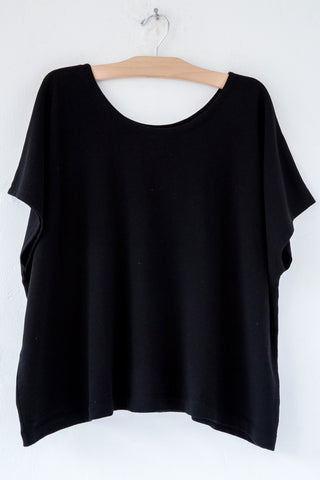 lost & found black french terry poncho
