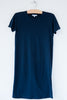 lost & found navy short sleeve tee dress