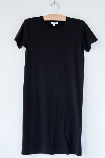 lost & found black short sleeve tee dress