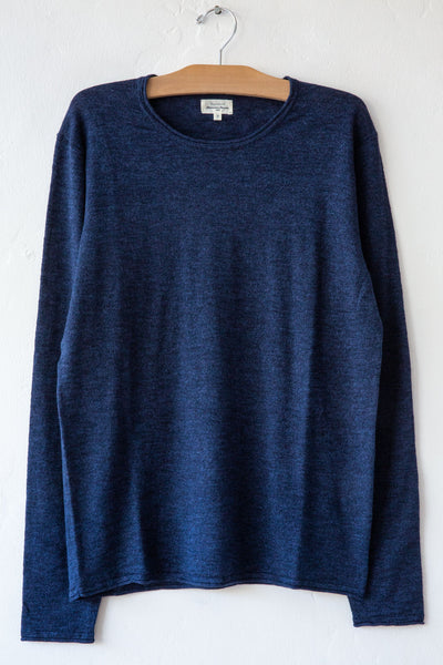hartford indigo crew sweater