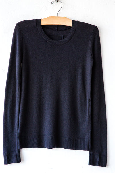 private k250 jp blue crew neck top