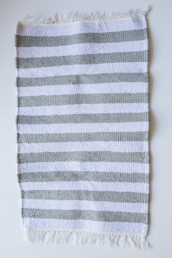 scents & feel grey stripe rug