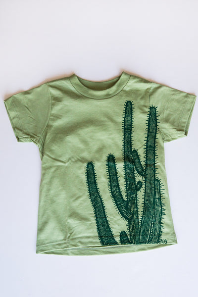 lucky fish green cactus tee
