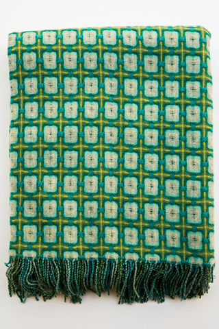 paulette rollo basket weave pl teal throw