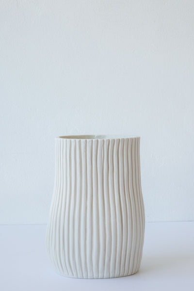 Cym white organic series oval vessel #7