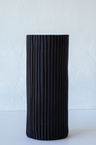 Cym black tall simple vase