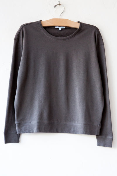 lost & found charcoal french terry sweatshirt