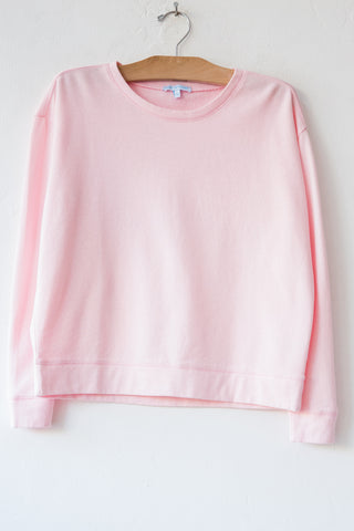 lost & found pink french terry sweatshirt
