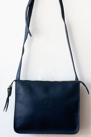 il bisonte navy shoulder bag