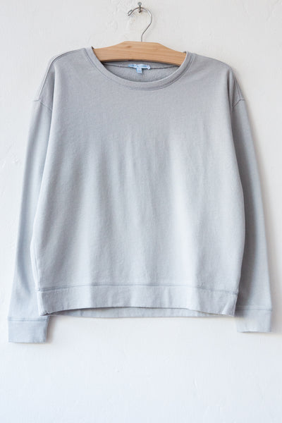 lost & found lt grey french terry sweatshirt