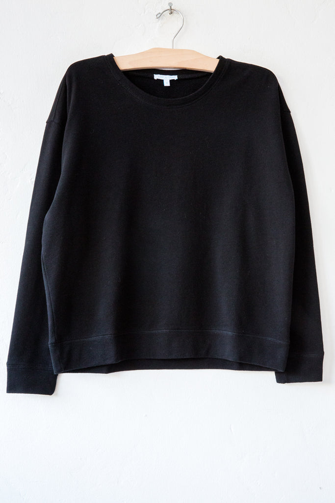 lost & found black french terry sweatshirt