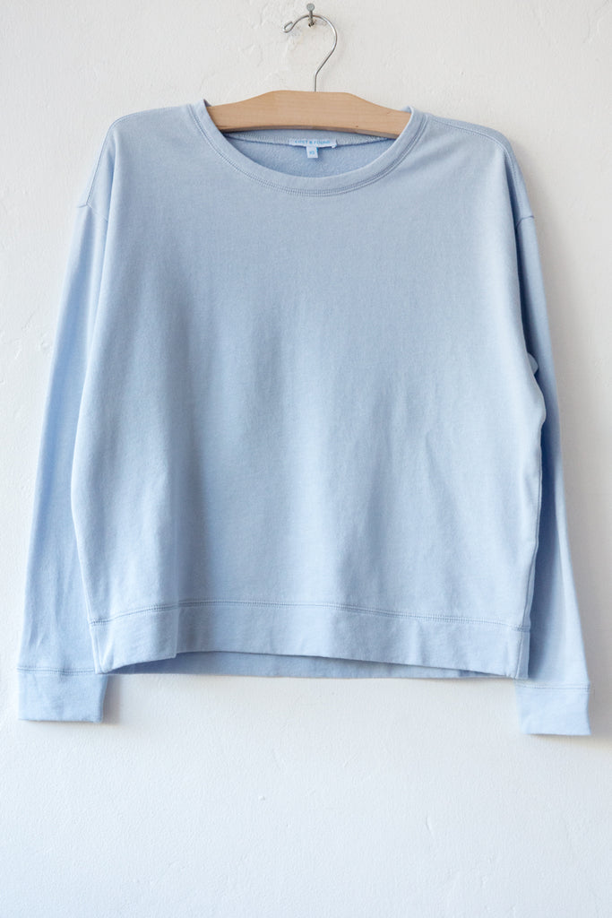 lost & found dust blue french terry sweatshirt