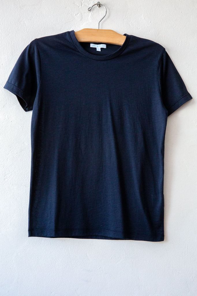 lost & found navy small short sleeve tee