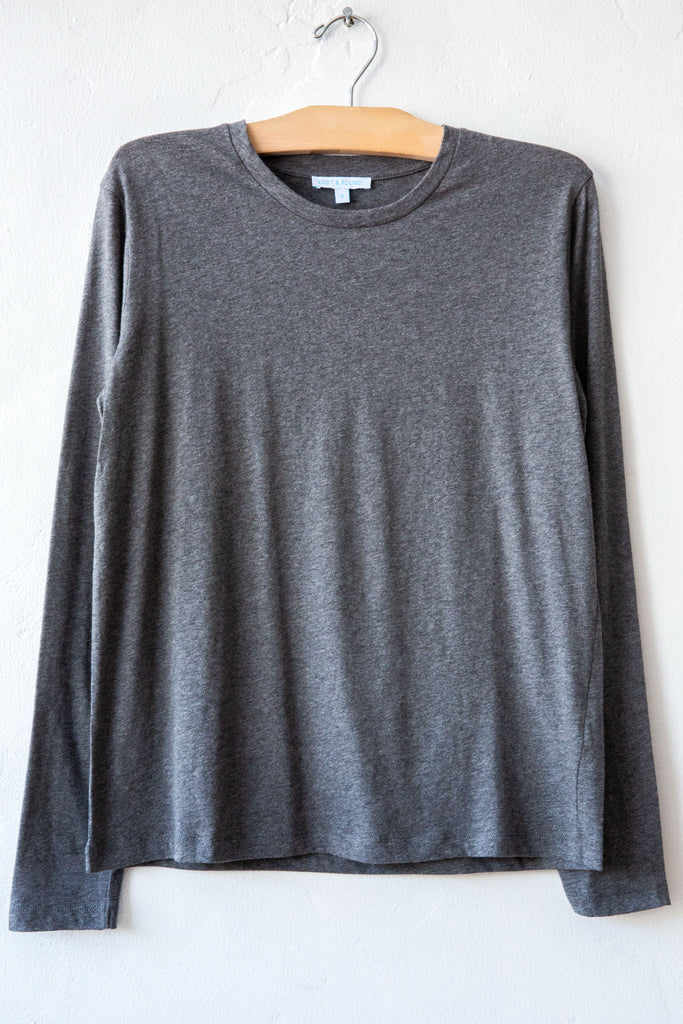 lost & found heather grey long sleeve tee