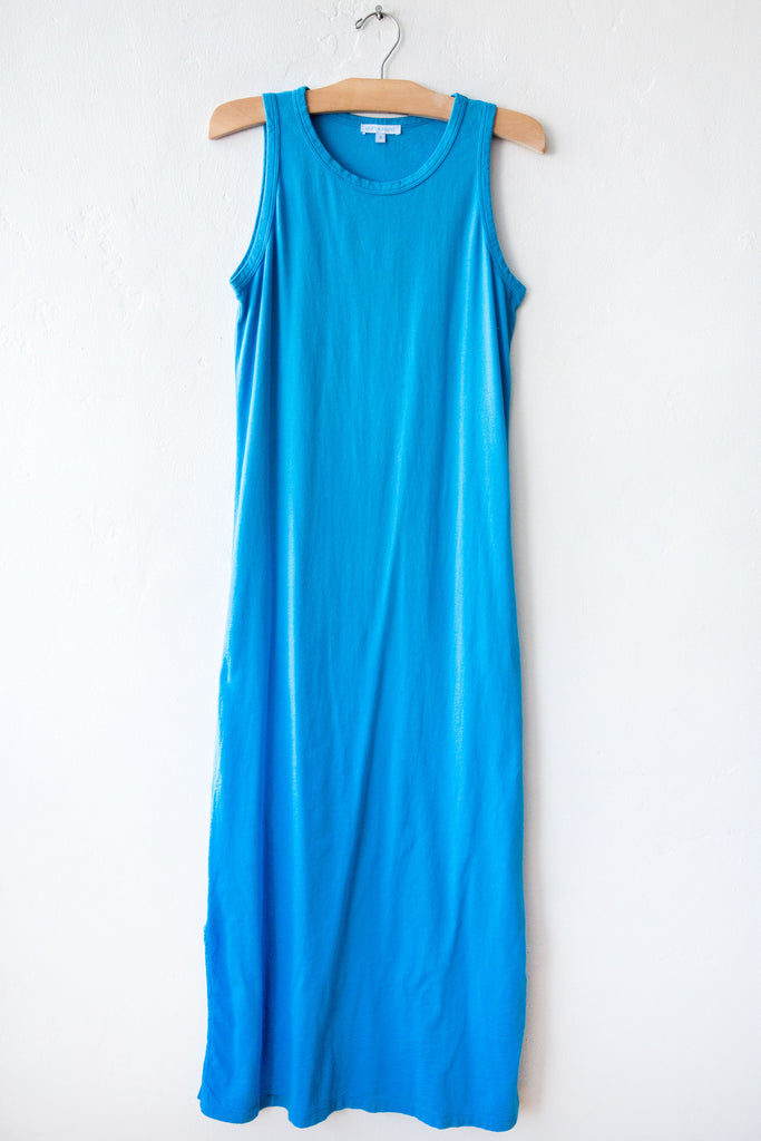 lost & found turq long tank dress