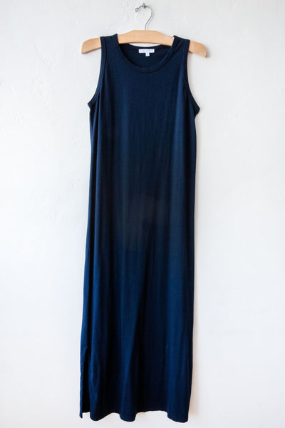 lost & found navy long tank dress