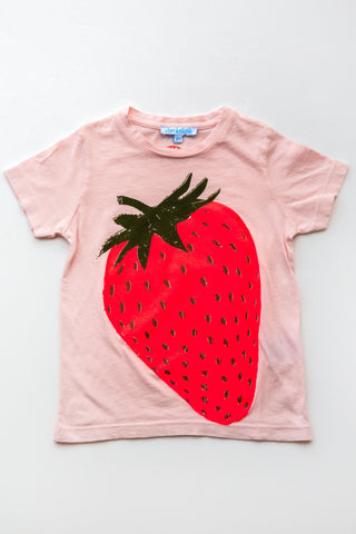 lucky fish on lost & found tee lt pink strawberry